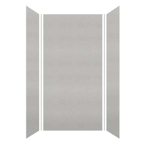 Monterey 48-in x 36-in x 96-in Glue to Wall 3-Piece Shower Wall Kit, Grey Stone/Velvet
