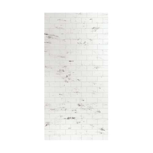 Monterey 48-in x 96-in Glue to Wall Wall Panel, Carrara/Tile