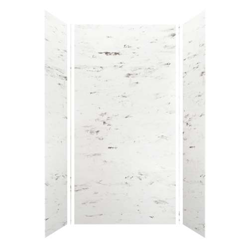 Monterey 48-in x 36-in x 96-in Glue to Wall 3-Piece Shower Wall Kit, Carrara/Velvet