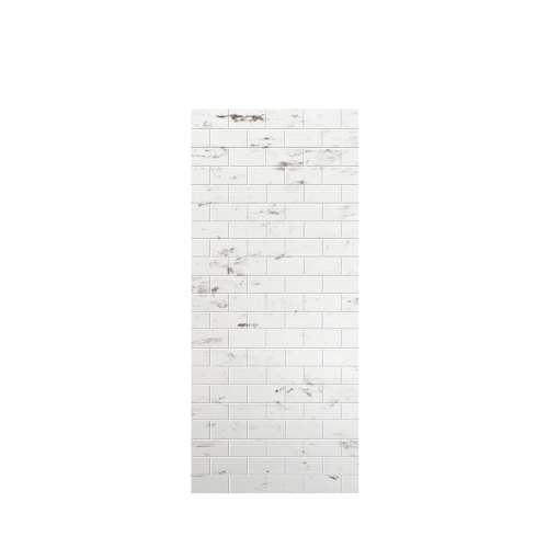 Monterey 36-in x 84-in Glue to Wall Tub Wall Panel, Carrara/Tile