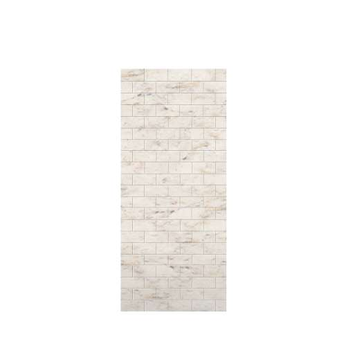 Monterey 36-in x 84-in Glue to Wall Tub Wall Panel, Butterscotch/Tile