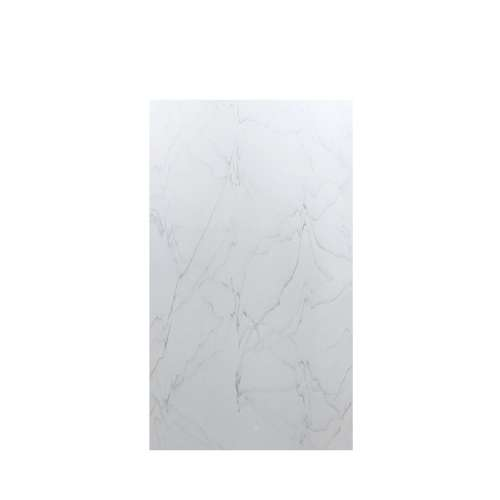 Luxura 48-in x 84-in Glue to Wall Tub Wall Panel, Palladium White
