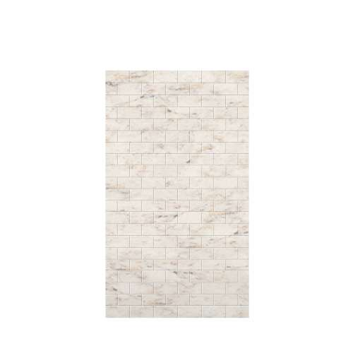 Monterey 48-in x 84-in Glue to Wall Tub Wall Panel, Butterscotch/Tile