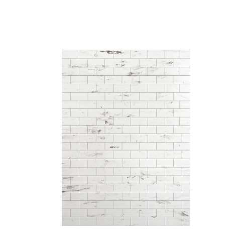 Monterey 60-in x 84-in Glue to Wall Tub Wall Panel, Carrara/Tile
