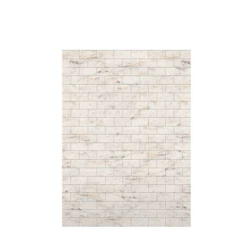 Monterey 60-in x 84-in Glue to Wall Tub Wall Panel, Butterscotch/Tile