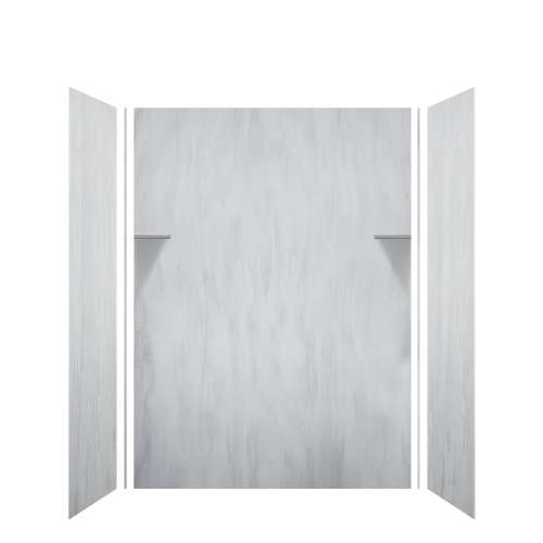 Luxura 60-in x 36-in x 84-in Glue to Wall 3-Piece Tub Wall Kit, Bellagio