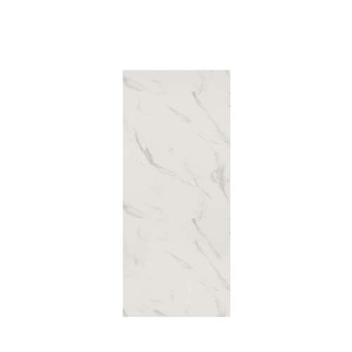 Silhouette 36-in x 84-in Glue to Wall Tub Wall Panel, Pearl Stone
