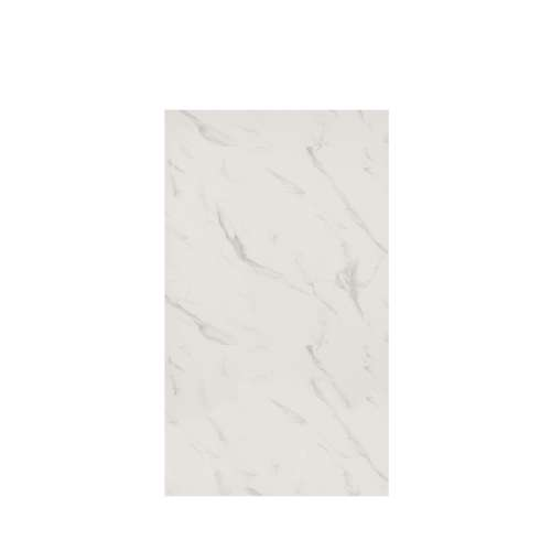 Silhouette 48-in x 84-in Glue to Wall Tub Wall Panel, Pearl Stone
