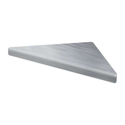9-in x 9-in Solid Surface Corner Shelf with Stainless Steel Bracket, in Iceberg Grey