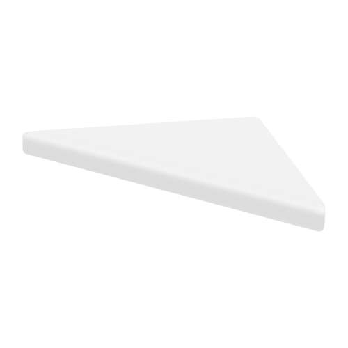 9-in x 9-in Solid Surface Corner Shelf with Stainless Steel Bracket, in White