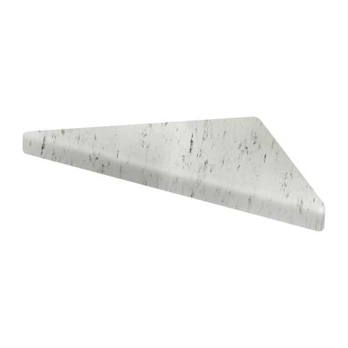 9-in x 9-in Solid Surface Corner Shelf with Stainless Steel Bracket, in Carrara