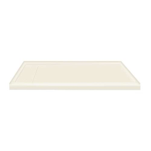 60-in x 30-in Ultra Low Threshold Left Hand Concealed Drain Shower Base, Cameo