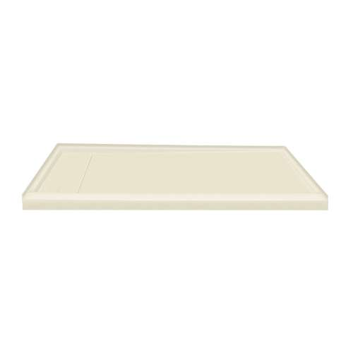 60-in x 30-in Ultra Low Threshold Left Hand Concealed Drain Shower Base, Biscuit