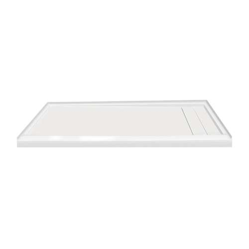 60-in x 30-in Ultra Low Threshold Right Hand Concealed Drain Shower Base, White