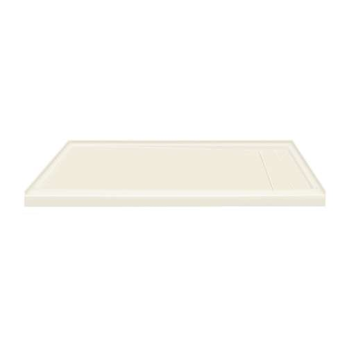60-in x 32-in Ultra Low Threshold Right Hand Concealed Drain Shower Base, Cameo