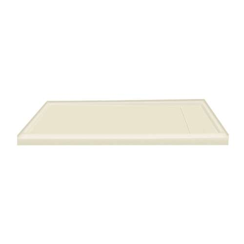 60-in x 32-in Ultra Low Threshold Right Hand Concealed Drain Shower Base, Biscuit