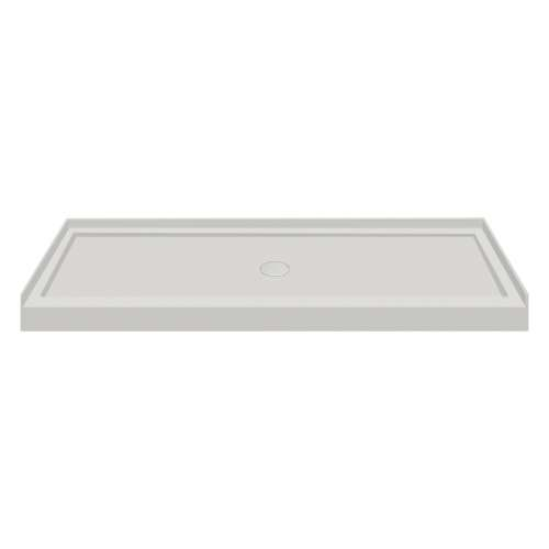 60-in x 36-in Low Threshold Center Drain Shower Base, Concrete