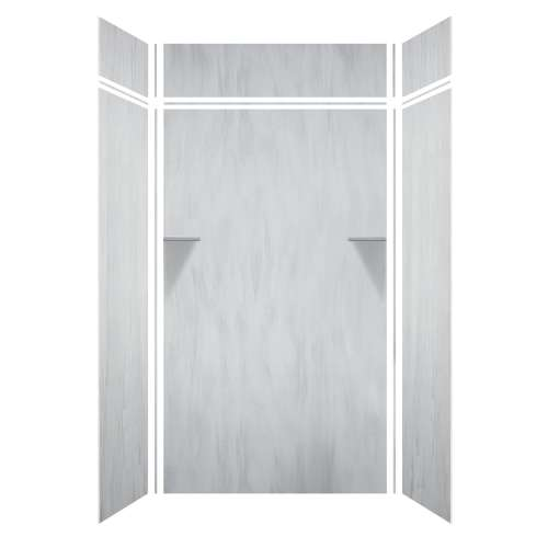 Luxura 48-in x 36-in x 84/12-in Glue to Wall 3-Piece Transition Shower Wall Kit, Bellagio