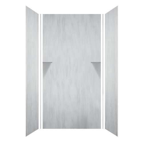 Luxura 48-in x 36-in x 96-in Glue to Wall 3-Piece Shower Wall Kit, Bellagio