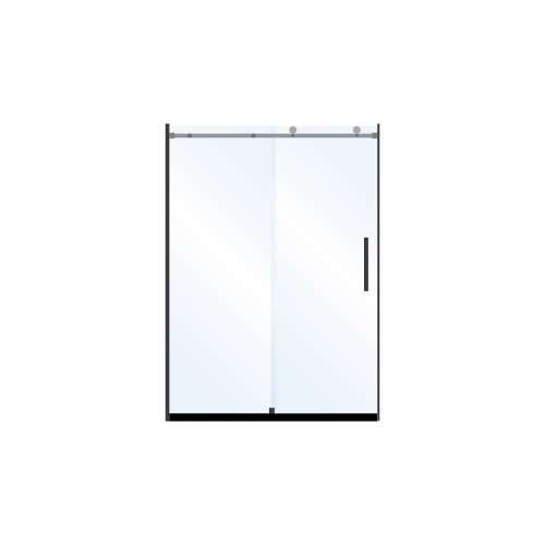 Miles 48-in x 76-in Barn-Style Shower Door with 10mm Low Iron Glass, in Matte Black
