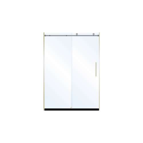 Miles 48-in x 76-in Barn-Style Shower Door with 10mm Clear Glass, in Brushed Nickel