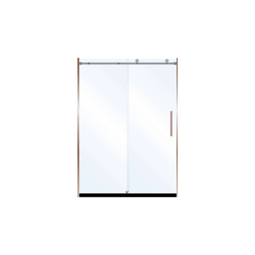 Miles 48-in x 76-in Barn-Style Shower Door with 10mm Low Iron Glass, in Champagne Bronze