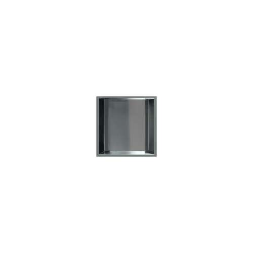 14-in. Recessed Horizontal Storage Pod, in Brushed Stainless