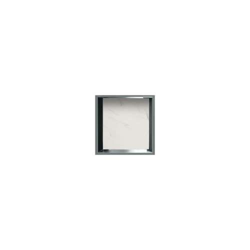 14-in. Recessed Horizontal Storage Pod Rear Lined in Pearl Stone