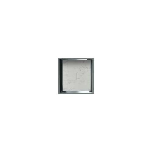 14-in. Recessed Horizontal Storage Pod Rear Lined in Tiled Carrara