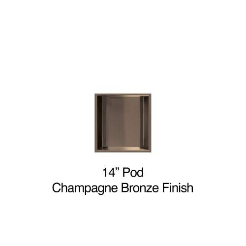 14-in. Recessed Horizontal Storage Pod, in Champagne Bronze