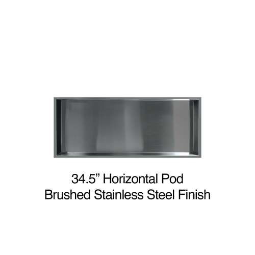 34.5-in. Recessed Horizontal Storage Pod, in Brushed Stainless