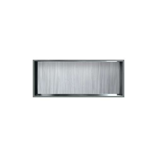 34.5-in. Recessed Horizontal Storage Pod Rear Lined in Iceberg Grey