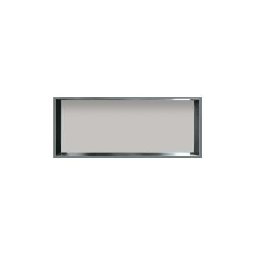 34.5-in. Recessed Horizontal Storage Pod Rear Lined in Grey