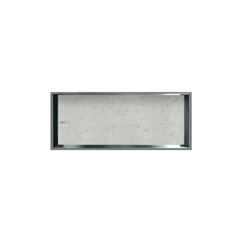34.5-in. Recessed Horizontal Storage Pod Rear Lined in Tiled Carrara