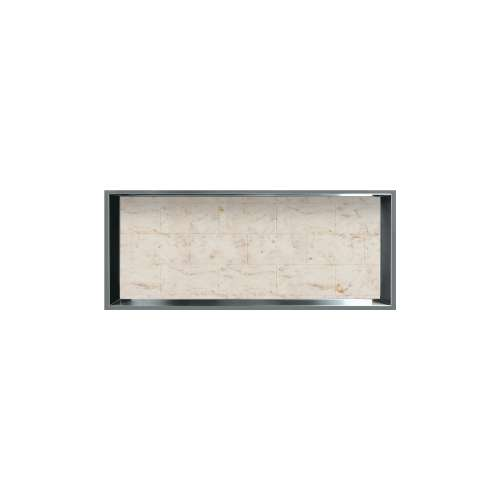 34.5-in. Recessed Horizontal Storage Pod Rear Lined in Tiled Butterscotch
