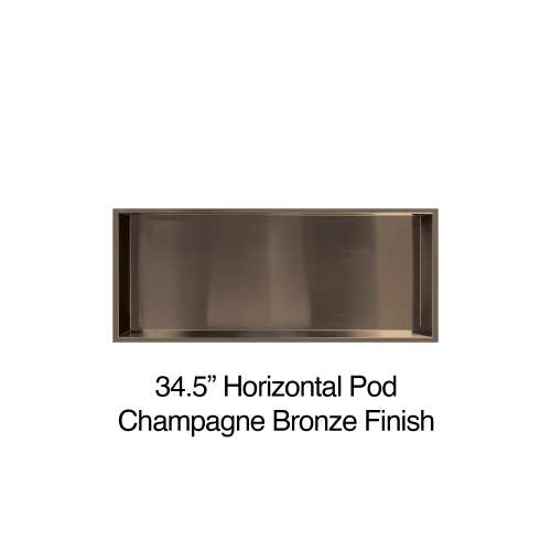 34.5-in. Recessed Horizontal Storage Pod, in Champagne Bronze