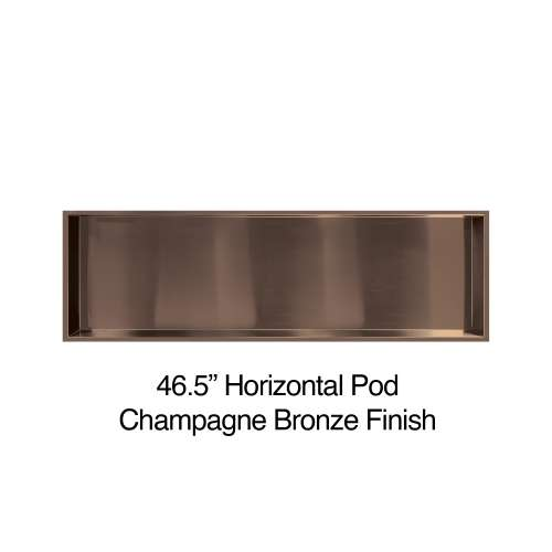 46.5-in. Recessed Horizontal Storage Pod, in Champagne Bronze