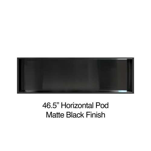 46.5-in. Recessed Horizontal Storage Pod, in Matte Black
