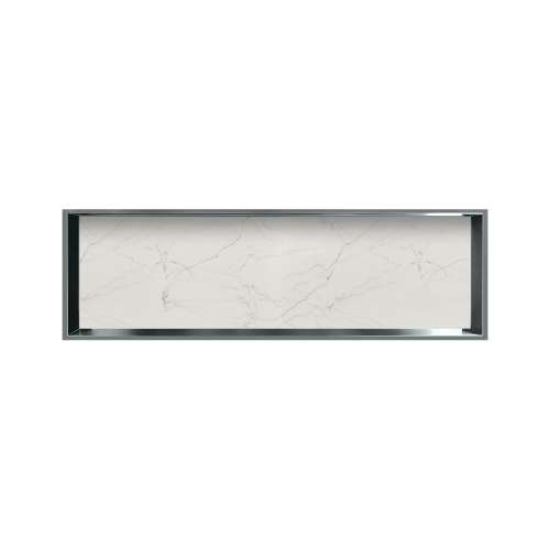 46.5-in. Recessed Horizontal Storage Pod Rear Lined in Palladium White