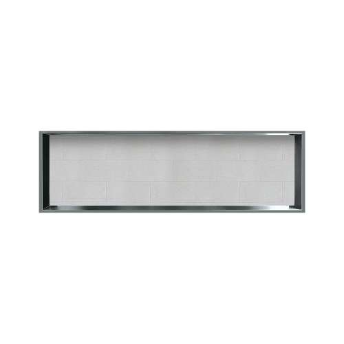 46.5-in. Recessed Horizontal Storage Pod Rear Lined in Tiled Grey Stone