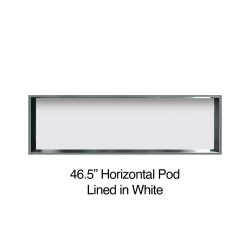 46.5-in. Recessed Horizontal Storage Pod Rear Lined in White