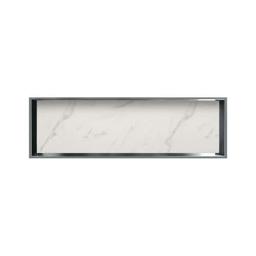 46.5-in. Recessed Horizontal Storage Pod Rear Lined in Pearl Stone