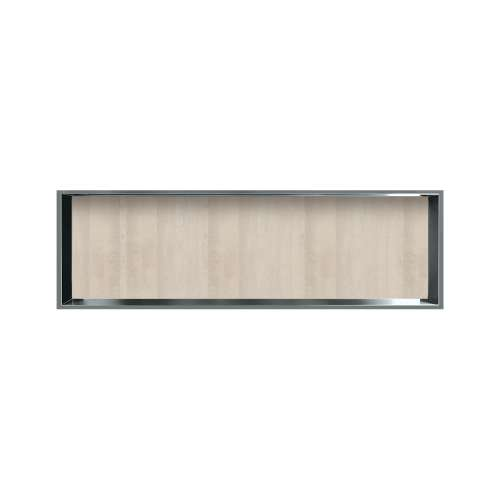 46.5-in. Recessed Horizontal Storage Pod Rear Lined in Washed Oak