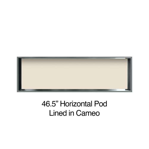 46.5-in. Recessed Horizontal Storage Pod Rear Lined in Linen