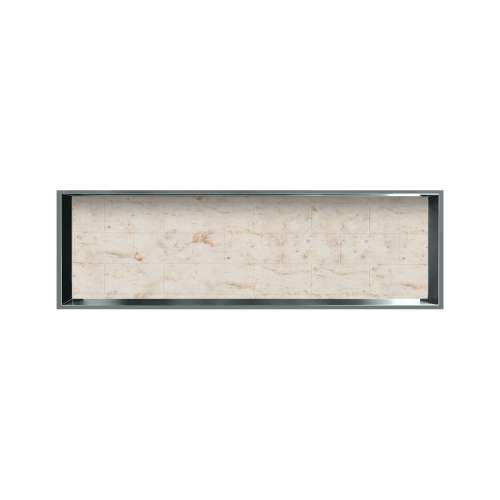 46.5-in. Recessed Horizontal Storage Pod Rear Lined in Tiled Butterscotch
