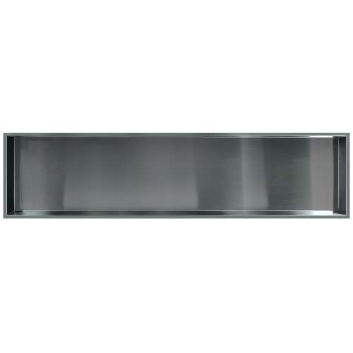 58.5-in. Recessed Horizontal Storage Pod, in Brushed Stainless