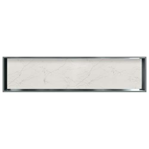 58.5-in. Recessed Horizontal Storage Pod Rear Lined in Palladium White