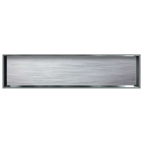 58.5-in. Recessed Horizontal Storage Pod Rear Lined in Iceberg Grey