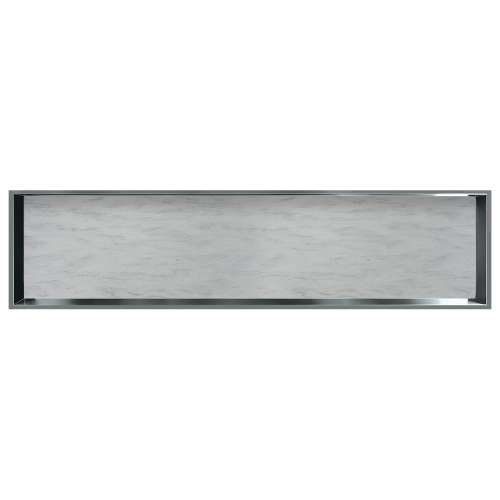 58.5-in. Recessed Horizontal Storage Pod Rear Lined in Creme Brulee