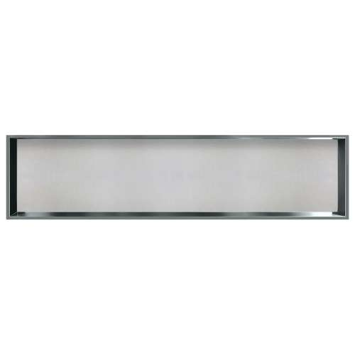 58.5-in. Recessed Horizontal Storage Pod Rear Lined in Grey Stone
